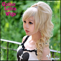Gothic Lolita Wigs®  Pixie™ Collection - Ponytail 1 (Blonde Mix)- 00084