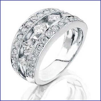 Gregorio 18K White Gold Diamond Wedding Band  R-201