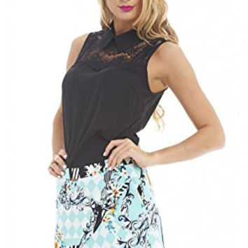 Multicolored Floral Print Wrap Back Zip Skorts