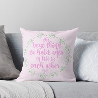 'Audrey Said It Best' Throw Pillow by TellAVision