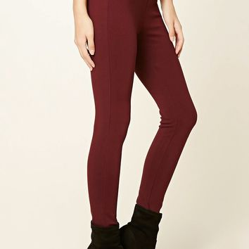 Zipper-Trim Skinny Pants