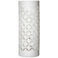 Threshold™ Perforated Ceramic Table Lamp - Lattice 4.5x 12""