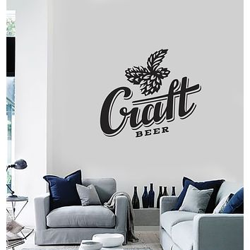 Vinyl Wall Decal Drink Craft Beer Alcohol Bar Decor Pub Home Stickers Mural (g144)