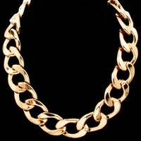 "Rihanna, Kim Kardashian, Basketball Wives, Statement Celebrity Style 18""L Gold Chain Link Necklace"