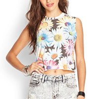 Colorful Daisy Muscle Tee
