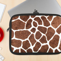 The Real Giraffe Animal Print Dye-Sublimated NeoPrene MacBook Laptop Sleeve Carrying Case