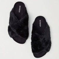 H&M Faux Fur Slippers $29.99