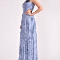 Shop Blue cut out maxi dress by KOASHEE | The Secret Label