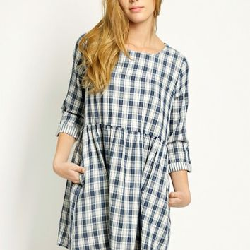 Wildeoak Canyon Pocket Plaid Dress