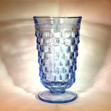 Vintage Blue glass American Fostoria ice-tea glass