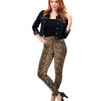 Black & Brown Leopard High Waist Stretch Leggings