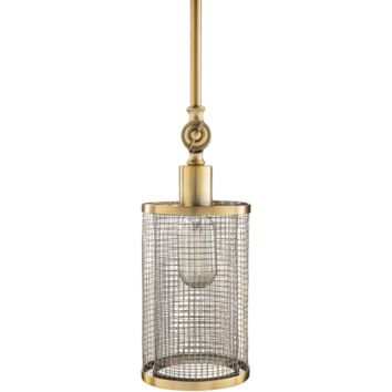 Surya Vail Brass One-Light Mini Pendant