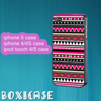 Aztec print, tribal, psychedelic---iphone 4 case,iphone 5 case,ipod touch 4 case,ipod touch 5 case,in plastic,silicone and  black , white.