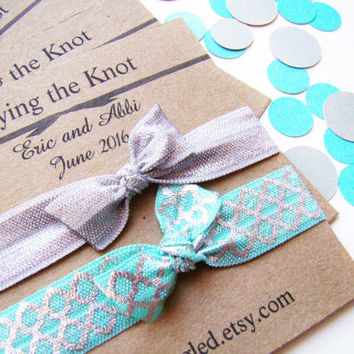 Wedding Favor, Hair Tie Set, Engagement Party Favor, Bridesmaid Gift, Customized Wedding Favor, Small Wedding Favor, Bridal Favor