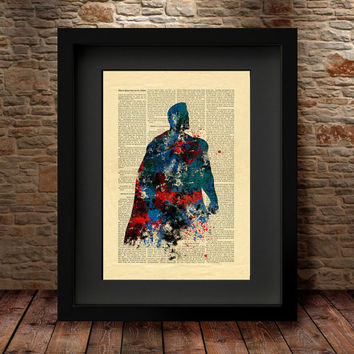 Superman print, Superman poster, Superhero print, DC Comics Marvel, Kids Bedroom Decor,DC comics poster, Super man Poster superhero - 75
