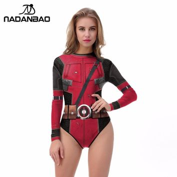 Deadpool Dead pool Taco 2018 One Piece Swimsuit 3D Printing Long Sleeve Zippered Surfing  Sexy Bathing Suit Women De Bano Women Swim Suit AT_70_6