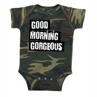 Hello Gorgeous - Camoflauge Baby Onesuit - Unisex Baby Clothes