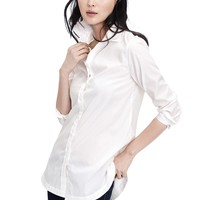 Parker-Fit White Boyfriend Tunic | Banana Republic