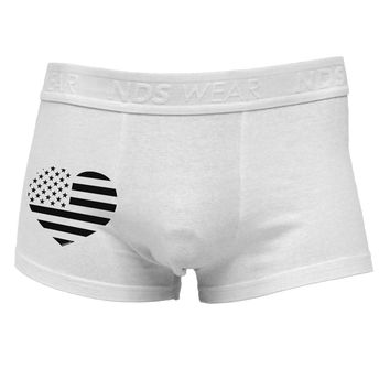 American Flag Heart Design - Stamp Style Side Printed Mens Trunk Underwear by TooLoud