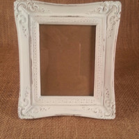 Small Shabby Chic Picture Frame Hand Painted and Distressed