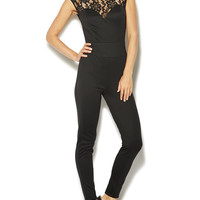 Lace Ponte Knit Jumpsuit