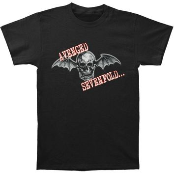 Avenged Sevenfold Men's  Skull Wings T-shirt Black Rockabilia