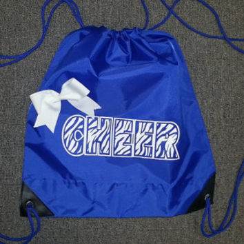 Zebra Cheer Draw Bag With Bow by ThingsToCheerAbout on Etsy