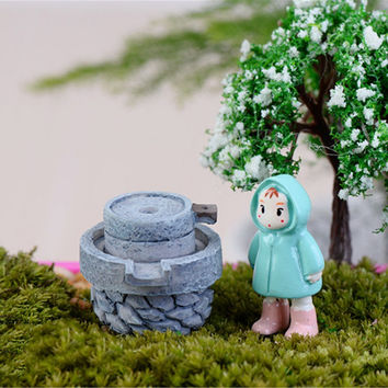 Newest Hot Sale House Fairy Garden Miniature Craft Micro Cottage Stone Mill Landscape Decoration For Handmade DIY Resin Crafts