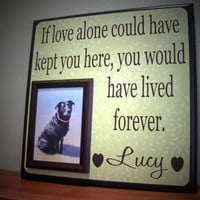 Dog Picture Frame Gift, Memorial, sympathy gift, loss of a pet, In memory of, Inspirational quote