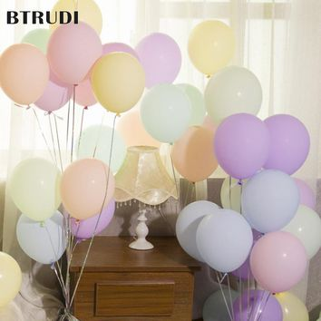 BTRUDI Single layer macaron balloon 10 inch wedding mermaid party Brithday decoration party decoration supplies gender reveal