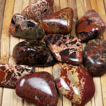 """BRECCIATED JASPER Feeling Broken? """"Supreme Nurturer"""" Soothes Overwhelm & Absorbs Negativity Helps Keep You Grounded Root Chakra Worry Stone"""