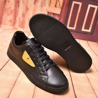 Fendi Men Casual Shoes fashionable leather Sneakers Shoes