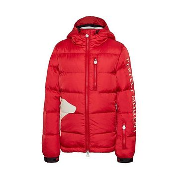 Perfect Moment - Kids' Down Bear Red Jacket