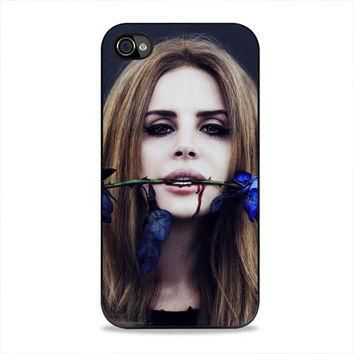 Lana Del Rey Rose On Her Lips Supreme iPhone 4, 4s Case