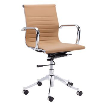 FRANCIS TAN FAUX LEATHER OFFICE CHAIR