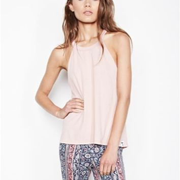 Michael Lauren Enchant High Neck Tank in Cactus | Boutique To You