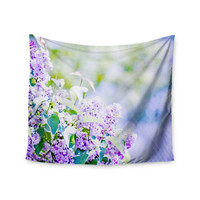 "Sylvia Coomes ""Hazy Purple Flowers"" Lavender Nature Wall Tapestry"