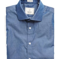 Spread Collar Indigo Dress Shirt