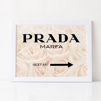 PRADA MARFA PRINT,Prada Marfa Sign,Gossip Girl,Prada Marfa Fashion Print,Prada Sign,Bedroom Wall Art,Prada High Fashion,Fashionista,Wall Art