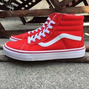 Vans Sk8-hi Vn00018ijv Red High Top Sneaker Flats Shoes Canvas Sport Shoes