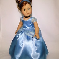 Disney Cinderella Princess Dress for American Girl and other 18 Inch Dolls