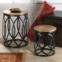 Contemporary Accent Table Pair