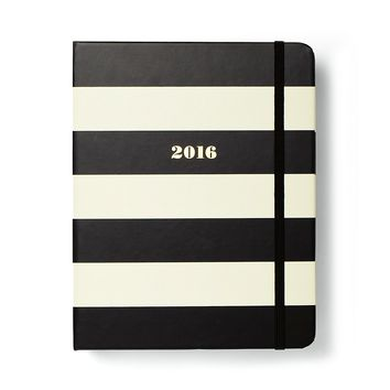 kate spade new york Black Stripe 17-Month Medium Agenda