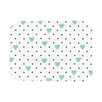 """Project M """"Pin Point Polka Dot Mint"""" Green White Place Mat"""