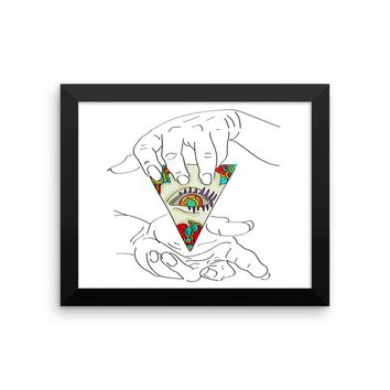 Framed Pyramid 3rd Eye Hands Poster
