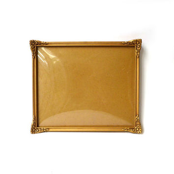 Vintage 1930s convex glass gilt photo frame