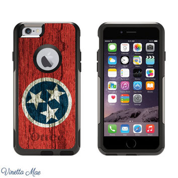 iPhone Otterbox Commuter Series Case for iPhone 5/5s, 6/6s, 6 Plus/6s Plus Tennessee State Flag Tennessee Vols UT Nashville TN Tri Star 1167