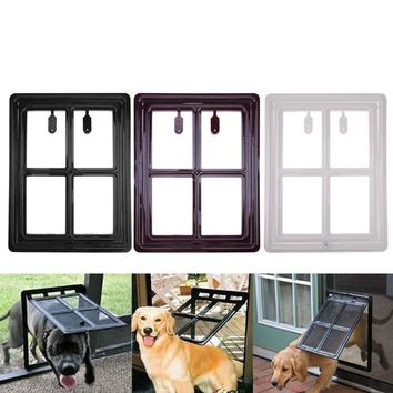 Foldable Plastic Cat Dog Door for Screen Window Gate Pet Free Access Door Automatically Shut Down Pet Safety Products