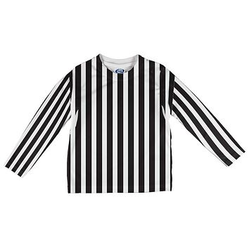 Halloween Referee Costume All Over Toddler Long Sleeve T Shirt