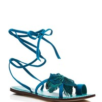 Bernardo Michelle Flower Lace Up Flat Sandals | Bloomingdales's